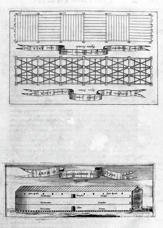 Engraving Art Print featuring the drawing Description Of The Ark, 1675. Artist by Print Collector