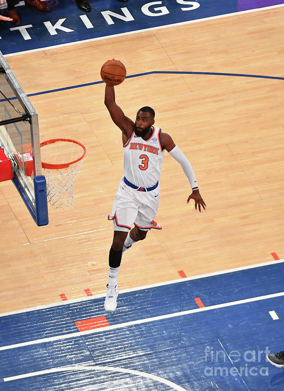Tim Hardaway Jr. Art Print featuring the photograph New York Knicks V Cleveland Cavaliers by Jesse D. Garrabrant
