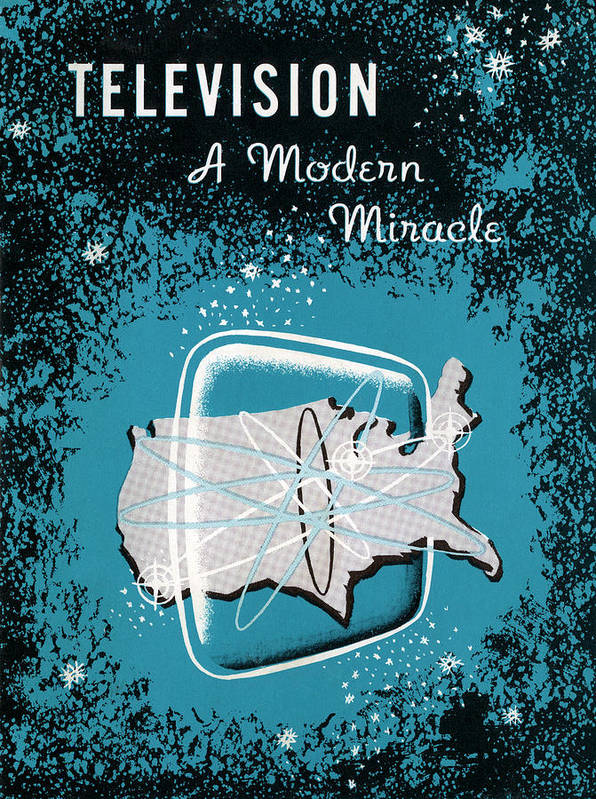 1950-1959 Art Print featuring the photograph Television, A Modern Miracle by Graphicaartis