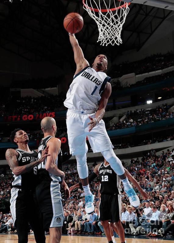 Nba Pro Basketball Art Print featuring the photograph San Antonio Spurs V Dallas Mavericks by Glenn James