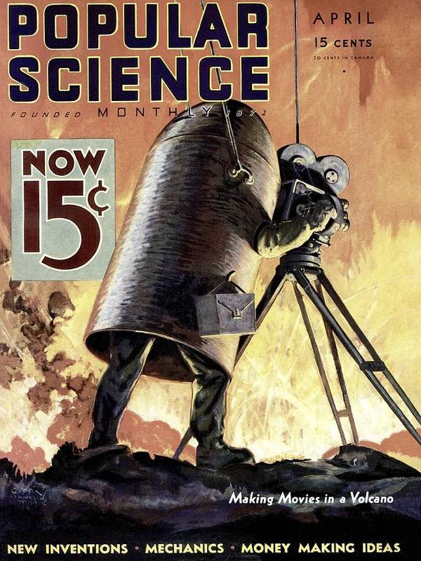 Magazine Cover Art Print featuring the photograph Popular Science Magazine Covers by Popular Science