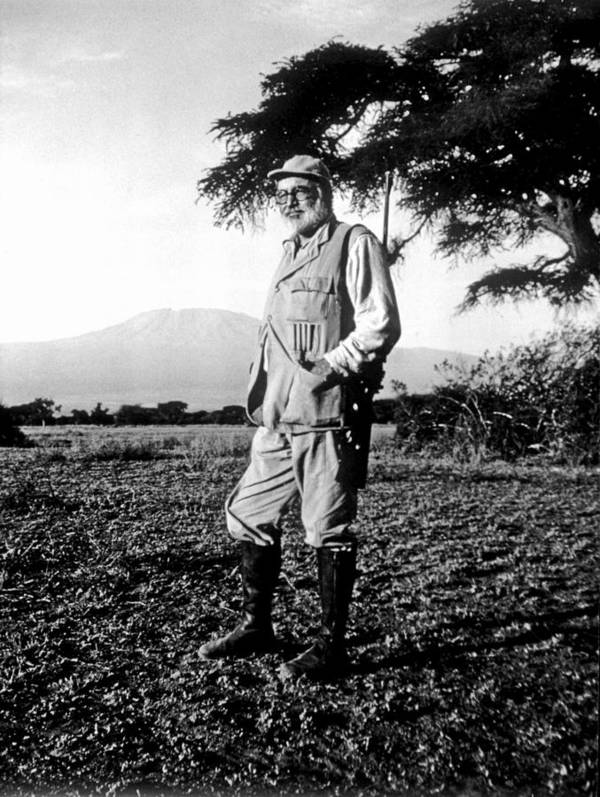 Kenya Art Print featuring the photograph Ernest Hemingway On Safari by Earl Theisen Collection