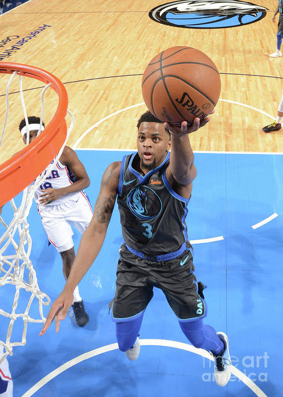 Nba Pro Basketball Art Print featuring the photograph Philadelphia 76ers V Dallas Mavericks by Glenn James