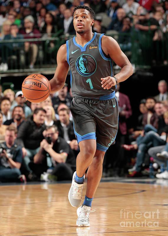 Nba Pro Basketball Art Print featuring the photograph Oklahoma City Thunder V Dallas Mavericks by Glenn James