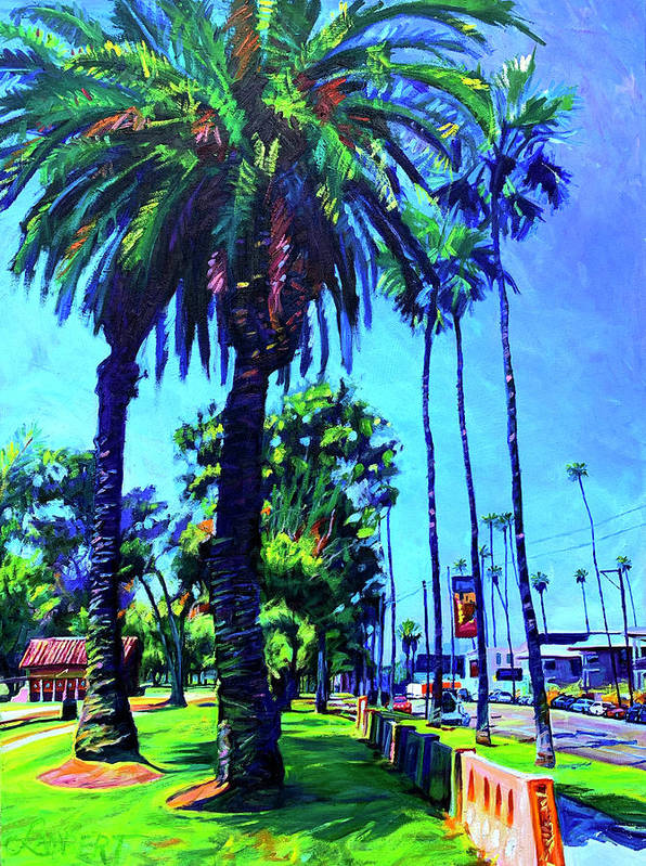 Southwest Art Print featuring the painting A Place of Calm by Bonnie Lambert