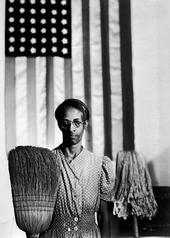 Timeincown Art Print featuring the photograph African American Cleaning Woman Ella by Gordon Parks