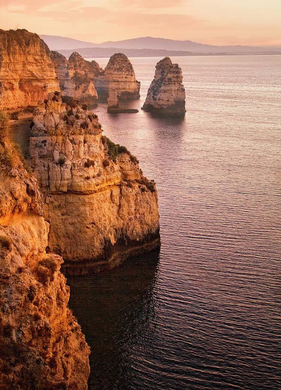 Algarve Art Print featuring the photograph Algarve Coastline, Lagos, Portugal by Zu Sanchez Photography