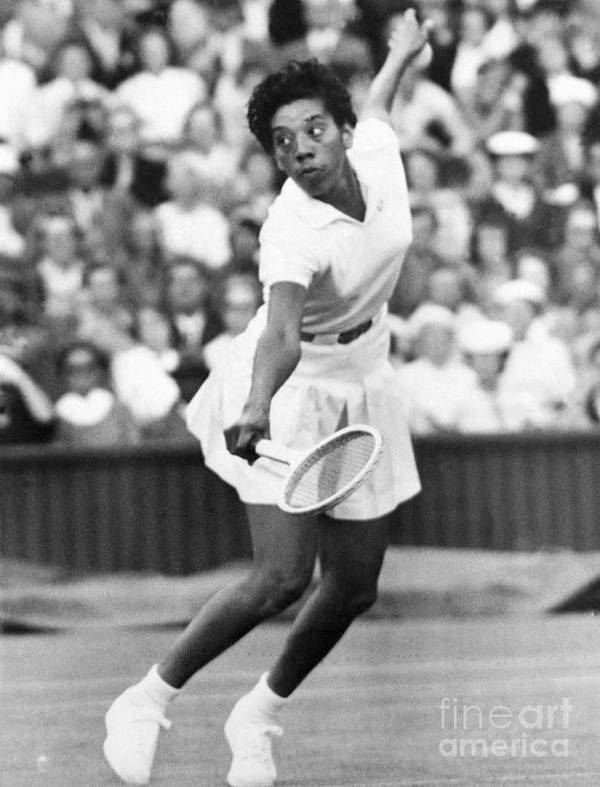 Tennis Art Print featuring the photograph Althea Gibson Playing Tennis by Bettmann
