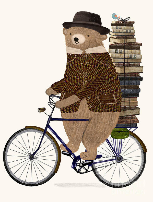 Children's Art Print featuring the painting An Educated Bear by Bri Buckley