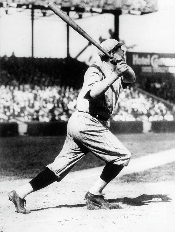 American League Baseball Art Print featuring the photograph Babe Ruth 1921 by Transcendental Graphics