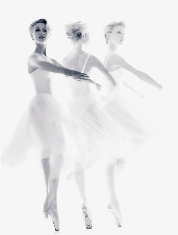 Ballet Dancer Art Print featuring the photograph Ballet Dancer Pirouetting Multiple by Getty Images