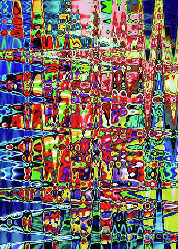 Beaujolais Art Print featuring the digital art Beaujolais Abstract by Genevieve Esson