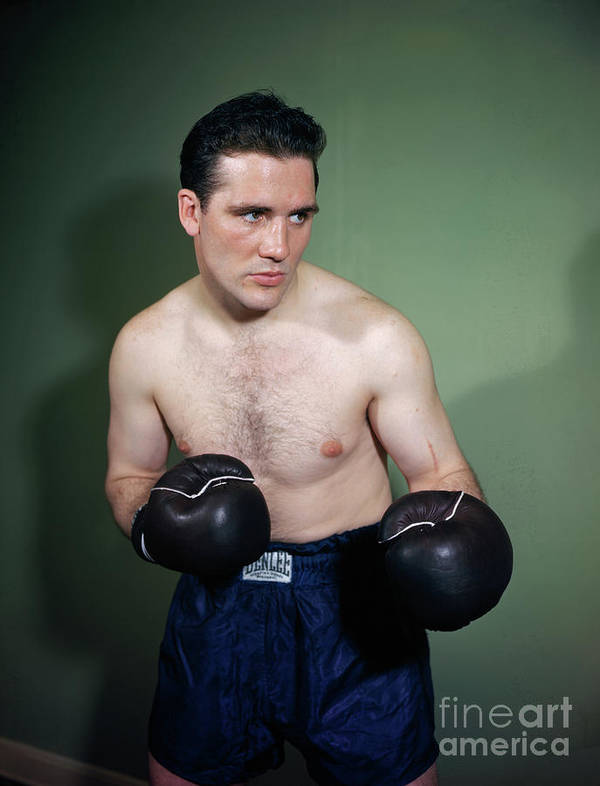 People Art Print featuring the photograph Billy Conn Posing In Boxing Attire by Bettmann
