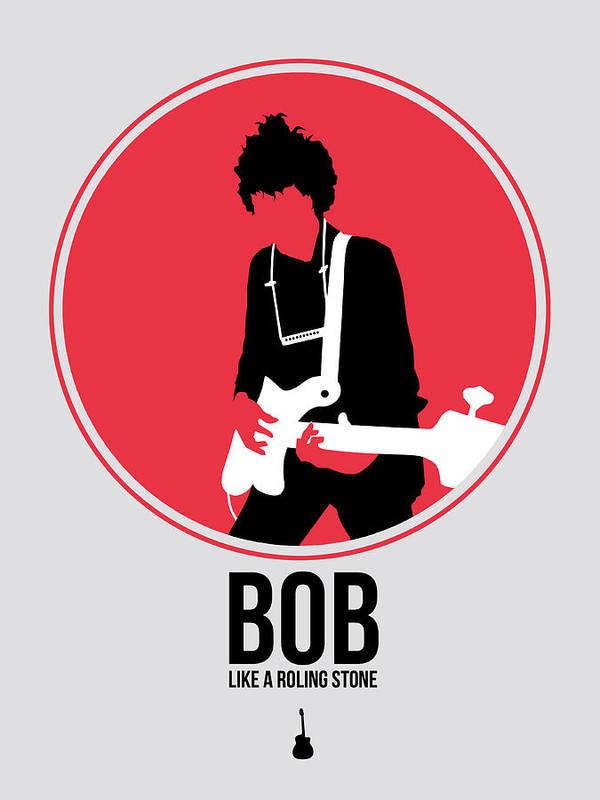 Bob Dylan Art Print featuring the digital art Bob Dylan by Naxart Studio