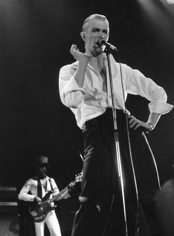 David Bowie Art Print featuring the photograph Bowie On Stage by Evening Standard