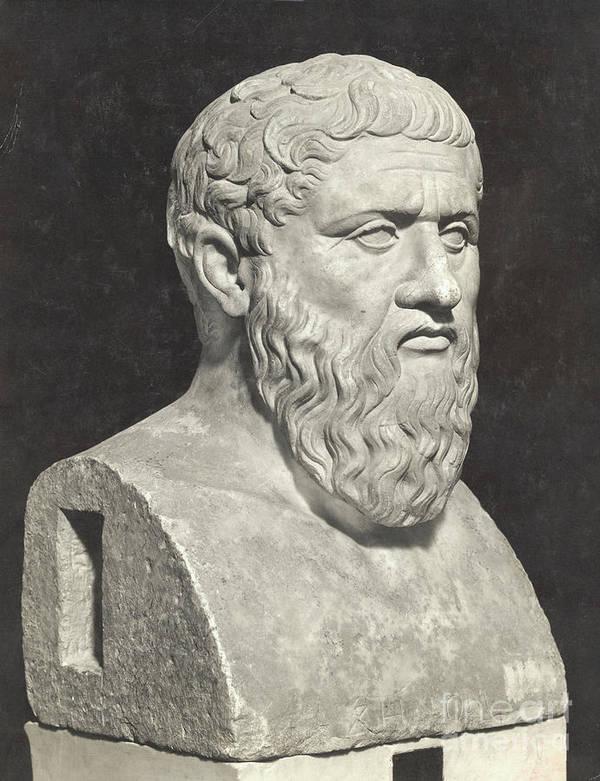 Art Art Print featuring the photograph Bust Of Grecian Philosopher Plato by Bettmann