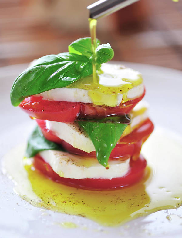 Caprese Salad Art Print featuring the photograph Caprese by Tanya f