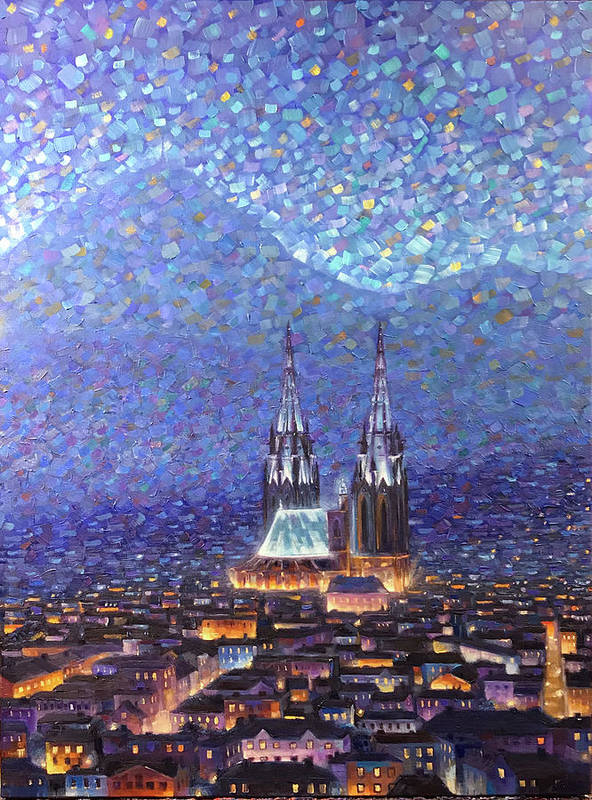 Rob Buntin Art Print featuring the painting Cathedrale3 by Rob Buntin