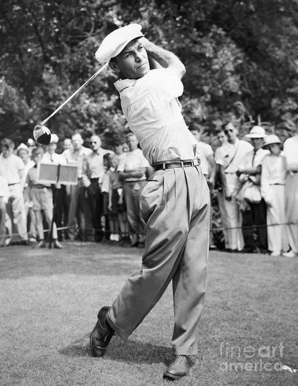 Following Art Print featuring the photograph Champion Golfer Ben Hogan by Bettmann