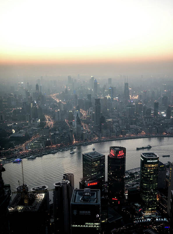 The Bund Art Print featuring the photograph Cityscape Puxi Shanghai by Andy Brandl