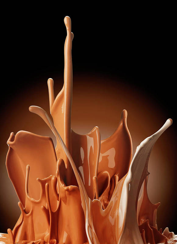 California Art Print featuring the photograph Creme Brulee Splash by Jack Andersen