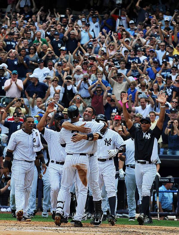American League Baseball Art Print featuring the photograph Derek Jeter by New York Daily News