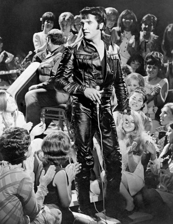 Music Art Print featuring the photograph Elvis Presley 68 Comeback Special by Michael Ochs Archives