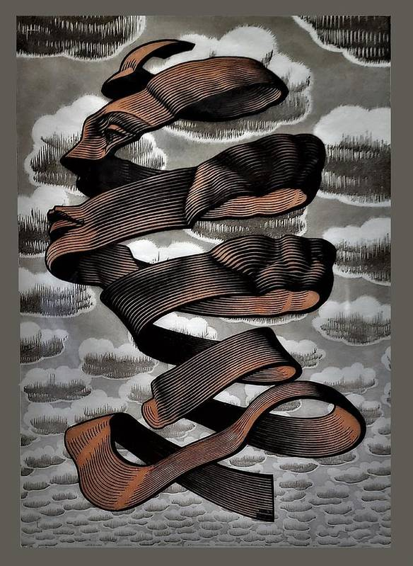 Maurits Cornelis Escher Art Print featuring the photograph Escher 104 by Rob Hans