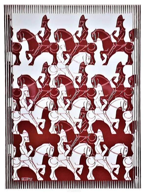 Maurits Cornelis Escher Art Print featuring the photograph Escher 84 by Rob Hans