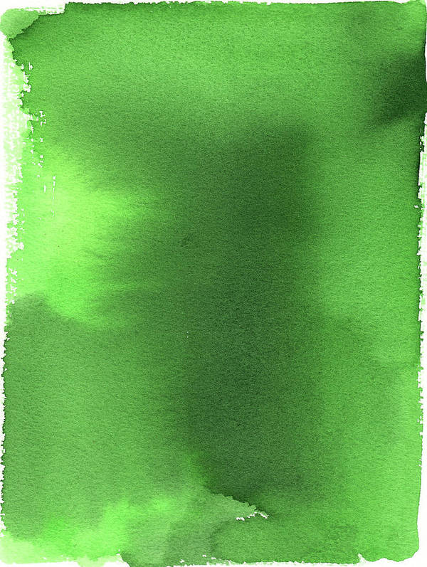 Watercolor Painting Art Print featuring the digital art Green Background Watercolor Painting by Taice