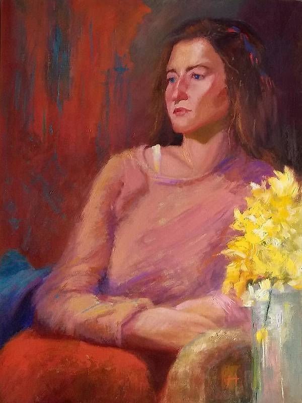 Woman Art Print featuring the painting He Never Apologized by Irena Jablonski
