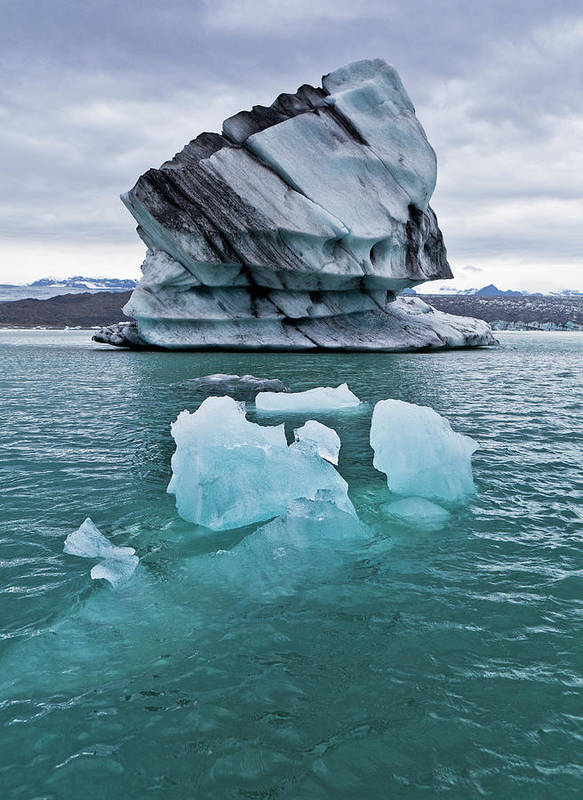 Iceberg Art Print featuring the photograph Icebergs On Jokulsarlon Glacial Lagoon by Arctic-images