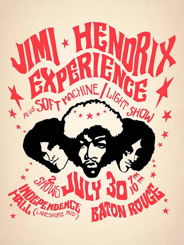 Jimi Hendrix Art Print featuring the photograph Jimi Hendrix Experience by Mark Rogan