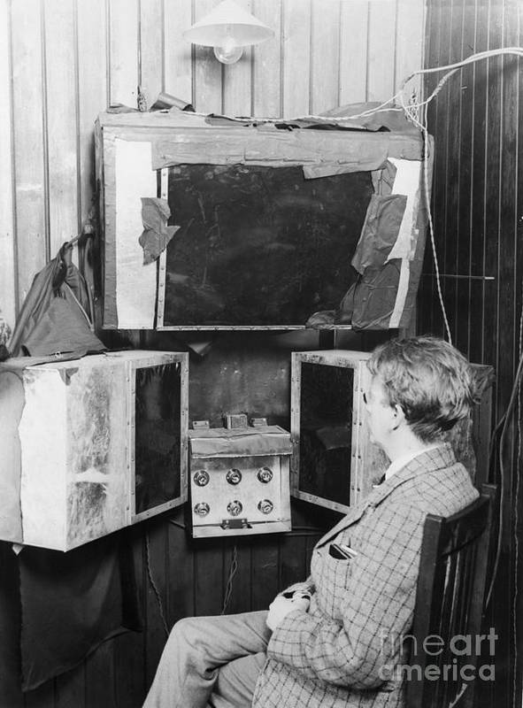 People Art Print featuring the photograph John L. Baird And His 1920s Tv Invention by Bettmann