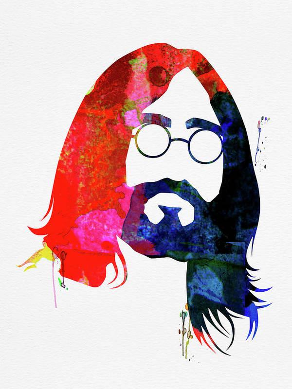 John Lennon Art Print featuring the mixed media John Watercolor by Naxart Studio