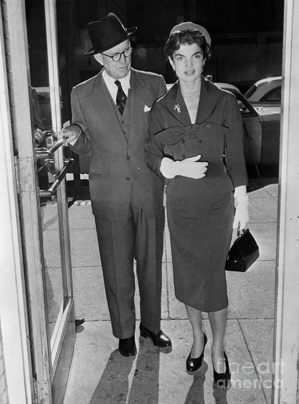 People Art Print featuring the photograph Joseph P. Kennedy With Daughter-in-law by Bettmann