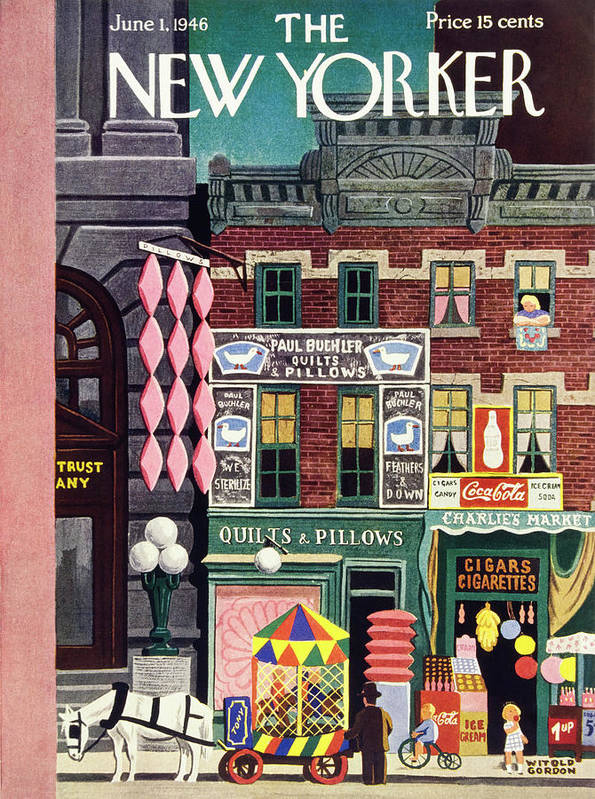 Illustration Art Print featuring the painting New Yorker June 1, 1946 by Witold Gordon