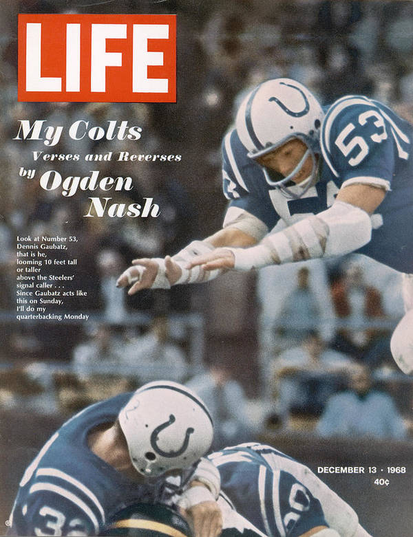 Magazine Cover Art Print featuring the photograph Life Magazine Cover, December 13, 1968 by Art Rickerby
