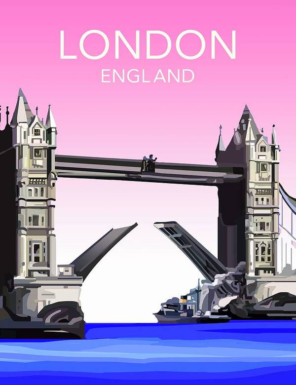 Art Art Print featuring the drawing London Bridge by Unknown