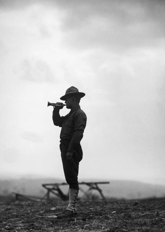 People Art Print featuring the photograph Lone Bugler by Fpg