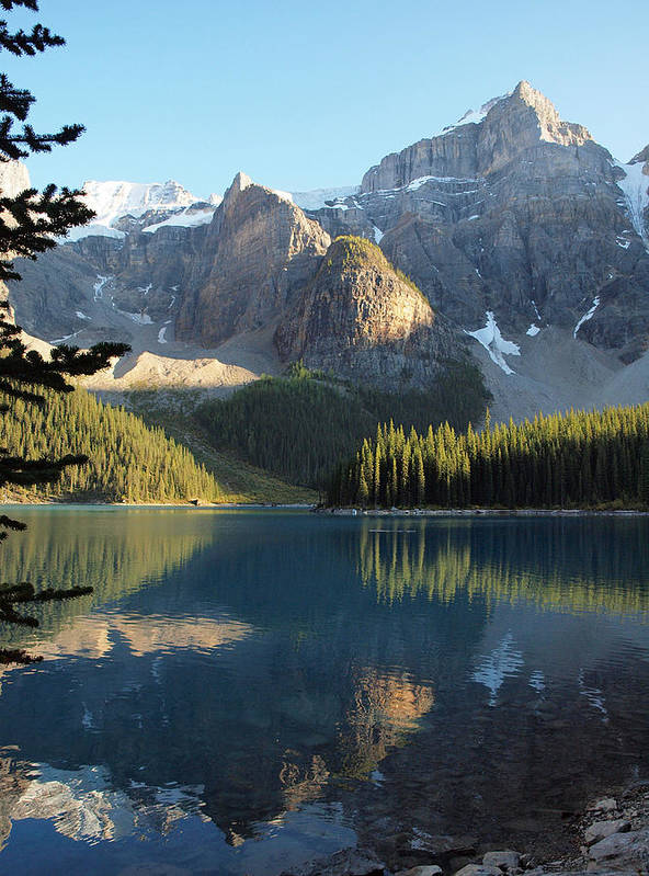 Tranquility Art Print featuring the photograph Moraine Lake In Banff National Park by Vienna Mornings