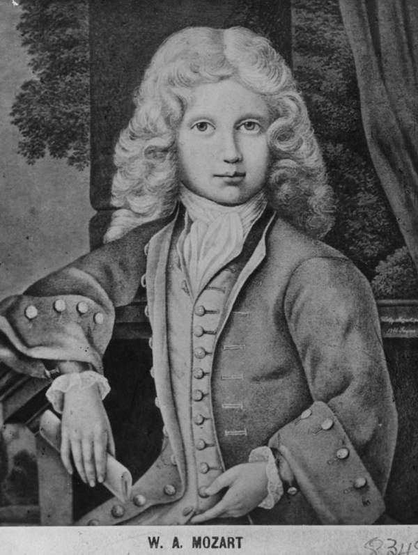 Child Art Print featuring the digital art Mozart As Child by Hulton Archive