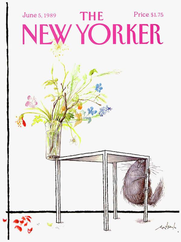Animal Art Print featuring the drawing New Yorker Cover June 5 1989 by Ronald Searle