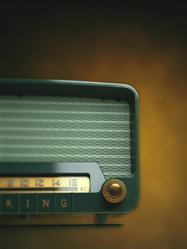 Analog Art Print featuring the photograph Old-fashioned Radio With Dial Tuner by Stockbyte