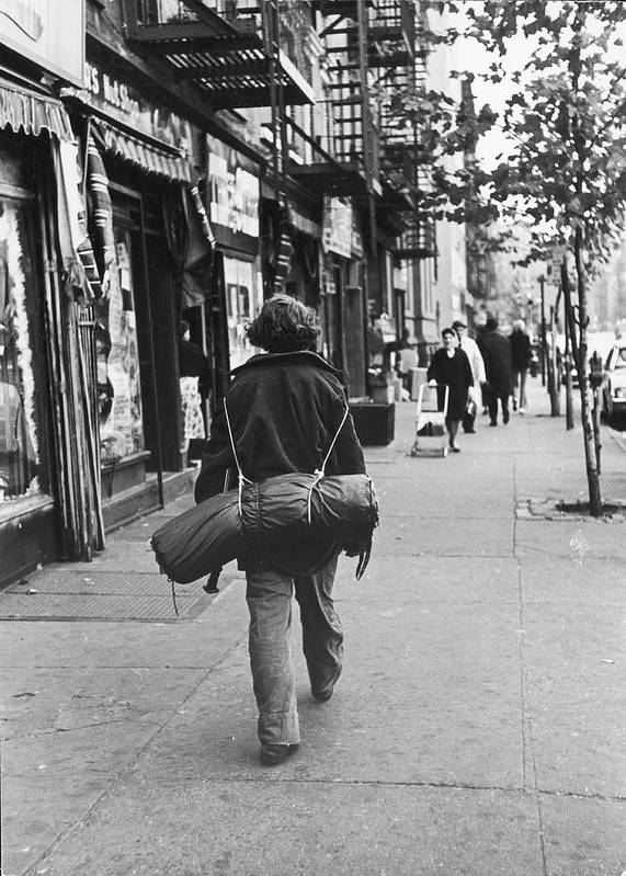 People Art Print featuring the photograph On The Streets Of The East Village, 1967 by Fred W. McDarrah