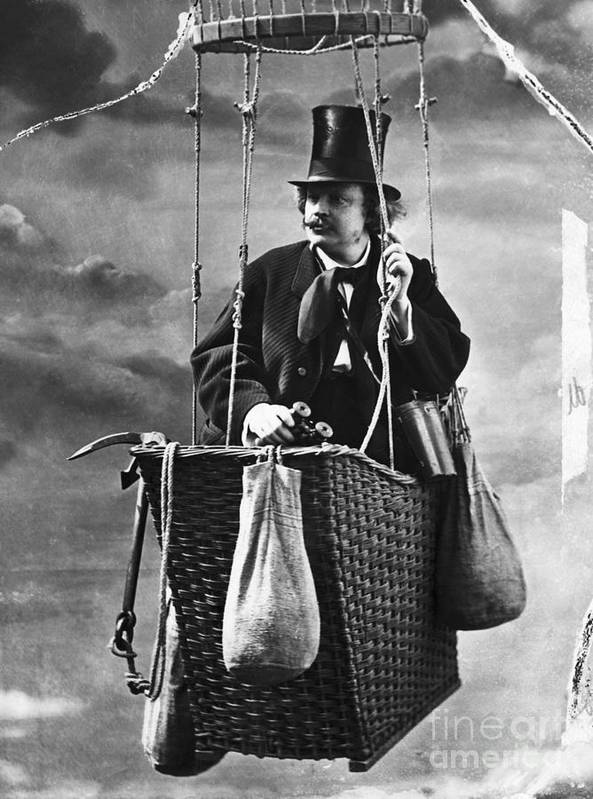 People Art Print featuring the photograph Photographer Nadar In The Gondola by Bettmann