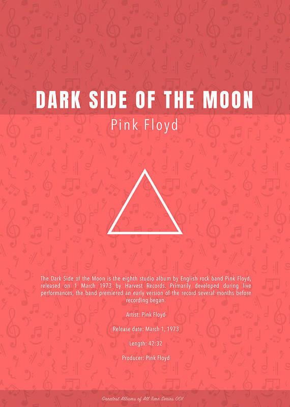 Pink Floyd The Dark Side of the Moon Music Album Minimalist Poster Print