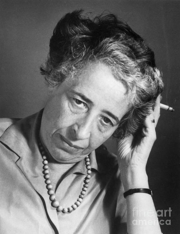 Hannah Arendt Art Print featuring the photograph Political Theorist Hannah Arendt by Bettmann