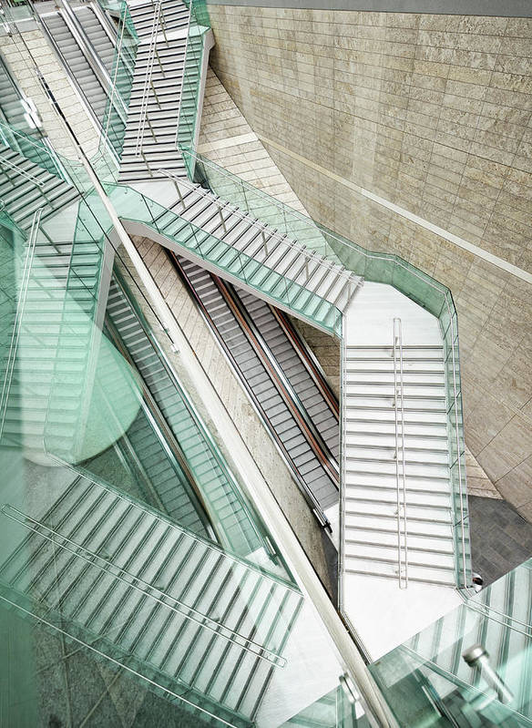 Long Art Print featuring the photograph Reflected Modern Architecture - Winding by Georgeclerk