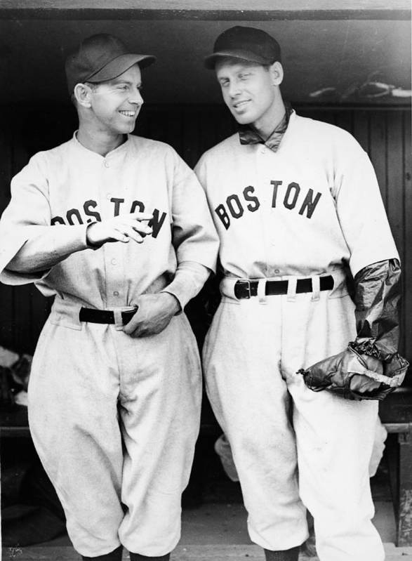 Plan Art Print featuring the photograph Rick And Wes Ferrell Of The Red Sox by Fpg